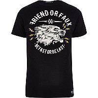 Black Friend or Faux graphic print t-shirt