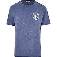 Blue marl San Fran crew neck t-shirt