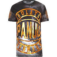 Black Panuu logo print t-shirt