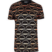 Black Panuu repeat print t-shirt