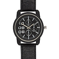 Black oversized black strap watch