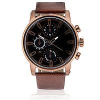 Rose gold tone oversized watch