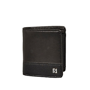 Black leather fold wallet