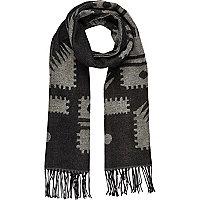Black Aztec print scarf