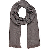 Grey textured scarf