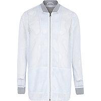 White RI Studio mesh bomber jacket