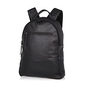 Black rubberised backpack