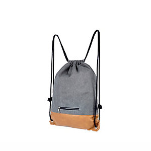 Grey canvas kit bag