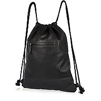 Black perforated kit bag