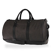 Grey rubberised holdall