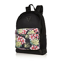Black mesh Hawaiian pocket backpack