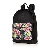 Black mesh Hawaiian pocket backpack