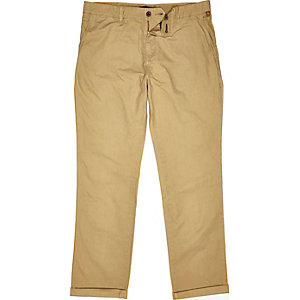 Brown relaxed chinos