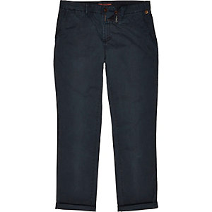 Navy relaxed chinos