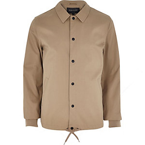 Light brown casual coach jacket