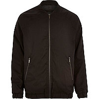 Black longer length bomber jacket