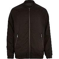 Black longer length bomber jacket
