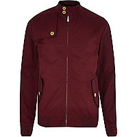 Red casual harrington jacket
