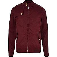 Red casual harrington jacket