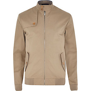 Light brown casual harrington jacket