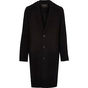Black lightweight duster coat