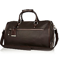 Brown pebbled holdall