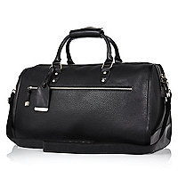 Black pebbled holdall