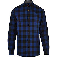 Blue Jack & Jones Premium checked shirt