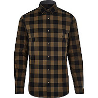 Green Jack & Jones Premium checked shirt