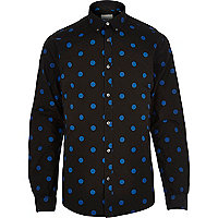 Black Jack & Jones Premium large spot shirt