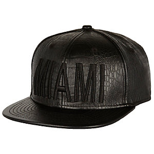 Black snake print Miami flatpeak hat