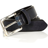 Navy cut edge belt