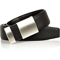 Black cut out plate belt