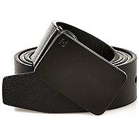 Plain black plate belt