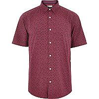 Pink floral print shirt