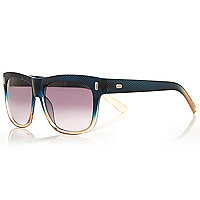 Black faded textured retro sunglasses