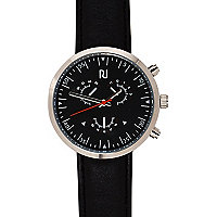 Black minimal black strap watch