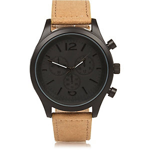Ecru smart chunky watch