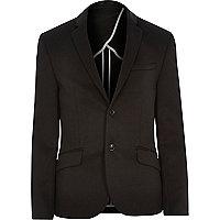 Black scuba blazer