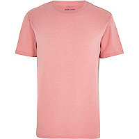 Pink marl crew neck t-shirt