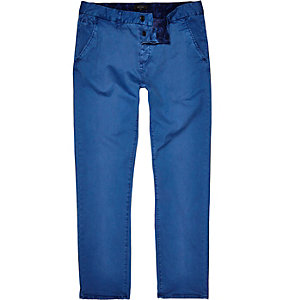 Blue slim chinos