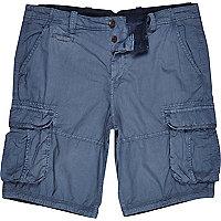 Blue cargo shorts