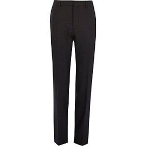 Navy slim tuxedo trousers
