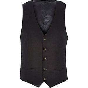 Navy tuxedo waistcoat