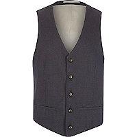 Blue jacquard weave waistcoat