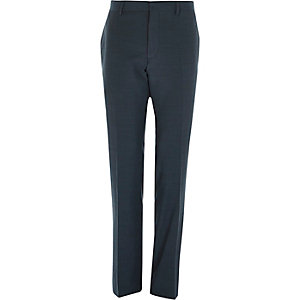 Green slim suit trousers