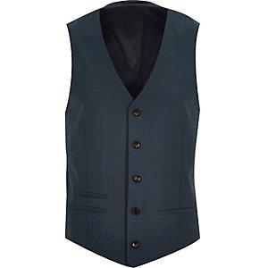Green suit vest