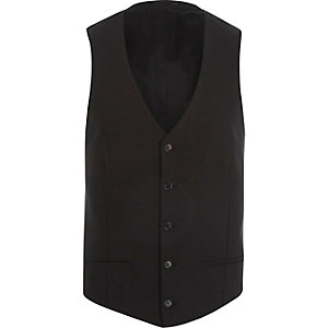 Black single breasted waistcoat