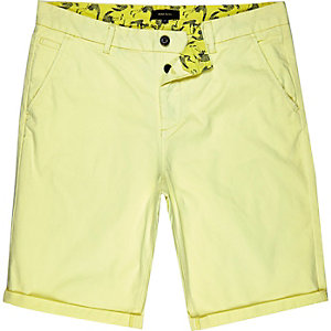Yellow lemon chino shorts