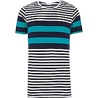 Blue Jack & Jones Premium stripe t-shirt
